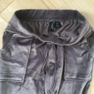 Cynthia Rowley Pants - Cynthia Rowley XS Velour Gray Jogger Sweatpants